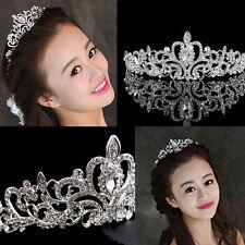 Neu Kristall  Prinzessin Braut Diademe Hochzeit Strass Krone Band Haarschmuck ##