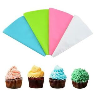 4pcs Silicone Reusable Icing Piping Cream Pastry Bag Tools Cake Decorating C1A5