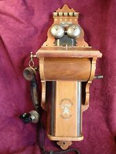 VERY NICE UNTOUCHED ANTIQUE WALL TELEPHONE ERICSSON SWEDEN SWEDISH SCANDINAVIA