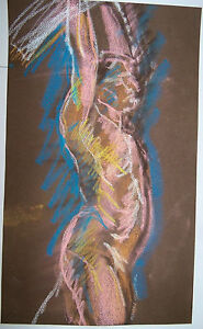 """""""HOLDING UP WEIGHT"""" by Ruth Freeman PASTEL 11"""" X 19 1/2"""""""