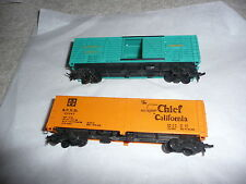 "* Tyco - Cattle car and 40"" box Sf Chief - 40+ years old (Ea-0-6006)"