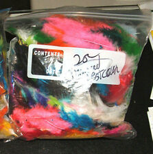 """2 oz Marabou Feathers 3-8"""" with Imperfections Assorted Colors BARGIN BUY"""