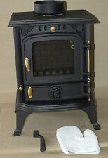 JA013s CR013s Wood burning stove Glass replacement 186x205mm new schott