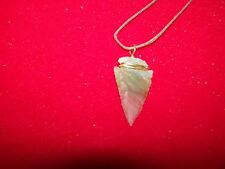 ARROWHEAD NECKLACE :  Real Stone, Hand Crafted ( J )