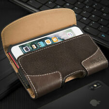HORIZONTAL Brown Leather Pouch Holder Belt Clip Holster Case Apple iPhone 6s 7 8