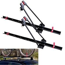 Car Roof Bike Rack Upright Locking Set Carrier Dual 2 Universal Mount Bracket