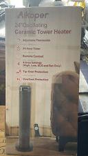"Aikoper 24"" Oscillating Ceramic Tower Heater - Black"