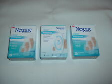 NEXCARE WATERPROOF BANDAGES 3 PACKS 20 ASSORTED SIZES  60 TOTAL CLEAR BANDAIDS