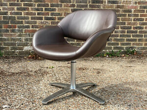 Low Back Leather swivel chair by Kusch + Co.