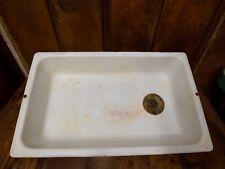 Vintage 1932 Kitchen Cast Iron Porcelain Laundry Antique Sink 18x30 Farmhouse