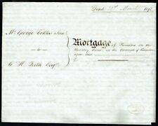 More details for 1892 mortgage deed beverley road kingston upon hull revenue stamps, seals fine