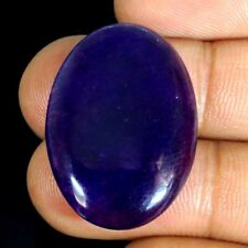 28.15Cts Natural Blue Chinese Jade Jadeite Oval Cabochon 21x31x04mm Gemstone