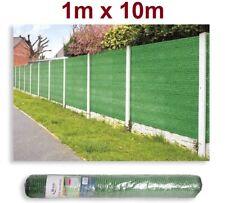 Malla de sombreo ocultación 95% 120gr lona sombra color verde 1x10m metros