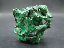 Chinese 1920's nice carved big nature malachite cover vase x6525