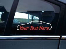 2x Custom YOUR TEXT car sticker - For Infiniti G35 Coupe (v35) USDM