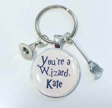 Personalised custom HARRY POTTER keyring you're a wizard gift  christmas