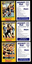 1997 West Coast Eagles Kick Butt Quit Healthway set of 18 cards