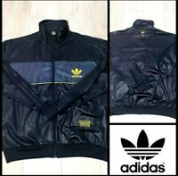 Adidas chile 62 jacket limited shiny black and yellow*rare*size M