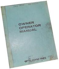 Teledyne Pines Rotary Tube Bender Owners Manual