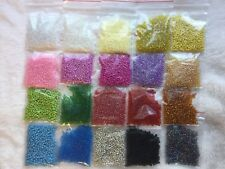 Wholesale Bulk Lot 200g 11/0 Glass Seed Beads Free Ship 20 AWESOME COLORS