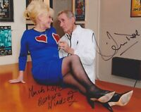 Barbara Windsor & Jim Dale Hand Signed 8x10 Photo Autograph Carry On Doctor
