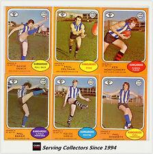 RARE-Scanlens VFL Trading Card 1973 A Full Team Set North Mel. (6)--NEAR MINT