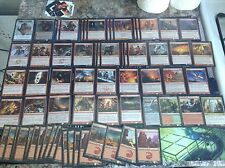 "MAGIC THE GATHERING: ""Lot of 65 WARRIORS Deck"" - Pro RED MANA Deck w.Koth Foil!"