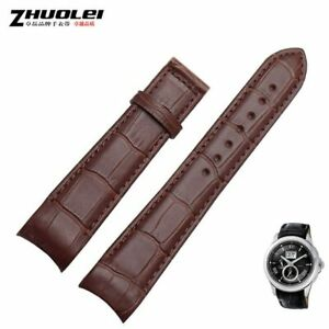 20 21 22mm Leather Watchband Strap Fit For Citizen Eco-Drive BL9002-37 05A 01A