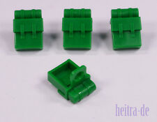LEGO - 4 X Verde Zaino/Zaini/Green Backpack non-opening/2524 Merce Nuova