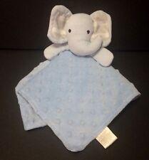 Kyle & Deena Blue gray elephant Baby Security Blanket bumpy dots satin