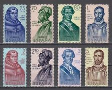 EDIFIL 1526/33  FORJADORES DE AMERICA ESPAÑA (1963) NUEVO MNH SPAIN