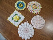CROCHETED HOT PADS LOT OF 5