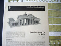 1960s/70s JFS Schreiber. Brandenburger Tor Berlin (Triumphal Arch) Cut-out Kit