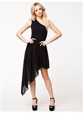 Venus Asymmetric Dress with Sheer Overlay