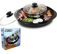 Electric GRILLS SUKI SHABU HOT POT BBQ BARBECUE Counterto Cook Garden PartyOTTO