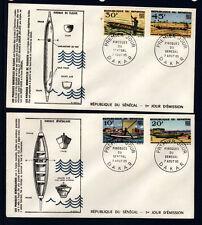 ASg/ Sénégal  enveloppe  1er jour   bateaux  pirogues    1965