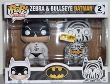 Funko Pop Heroes Hot Topic Exclusive Zebra & Bullseye Batman 2 Pack Brand New