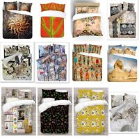 UK Made 3D Digital Abstract Photo Print Art Duvet Quilt Cover With Pillowcases