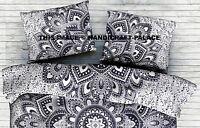 Ombre Mandala Cotton Indian Pillow Sham/Pillow Case Black White Cotton Cushion