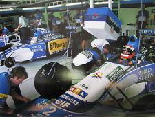 Poster Mild Seven Benetton Renault B195 1995 #2 Johnny Herbert (GBR) Pit Box
