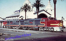 Santa Fe ALCO PA diesel locomotive passenger train San Diego postcard Warbonnets