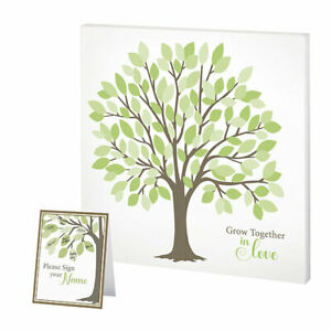 guest signing tree canvas wedding guest book alternative