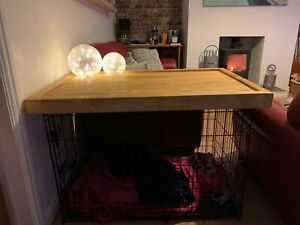 Dog crate cover Wooden Top