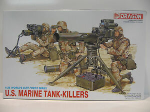 U.S.Marines Tank-Killers Soldaten, Geschütz, 1:35 Dragon  3012 Bausatz NEU