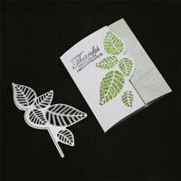 Stanzschablone Blatt Karte Weihnachten Geburtstag Hochzeit Album Titelseite Deko