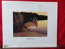"1995 Ducks Unlimited Sponsor;s Print ""Ansley-H0dges Wood Duck"" S/N  David Lanier"