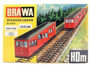BRAWA 'HOm' GAUGE 6310 CABLE CAR RAILWAY SET *RARE*