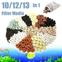 10/12/13 in 1 Bag Aquarium Fish Tank Pond Ring Bio Ball Biological Filter
