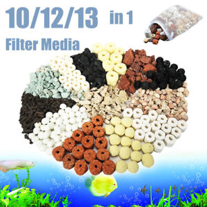 10/12/13 in 1 Bag Aquarium Fish Tank Pond Ring Bio Ball Biological