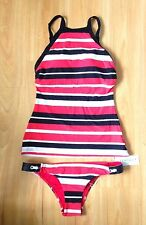 NWT Seafolly Walk The Line High Neck Singlet & Brazilian Pant - AU 10/US 6 (C68)